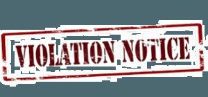 Words - violation notice