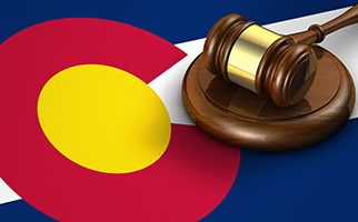 Colorado Flag with gavel
